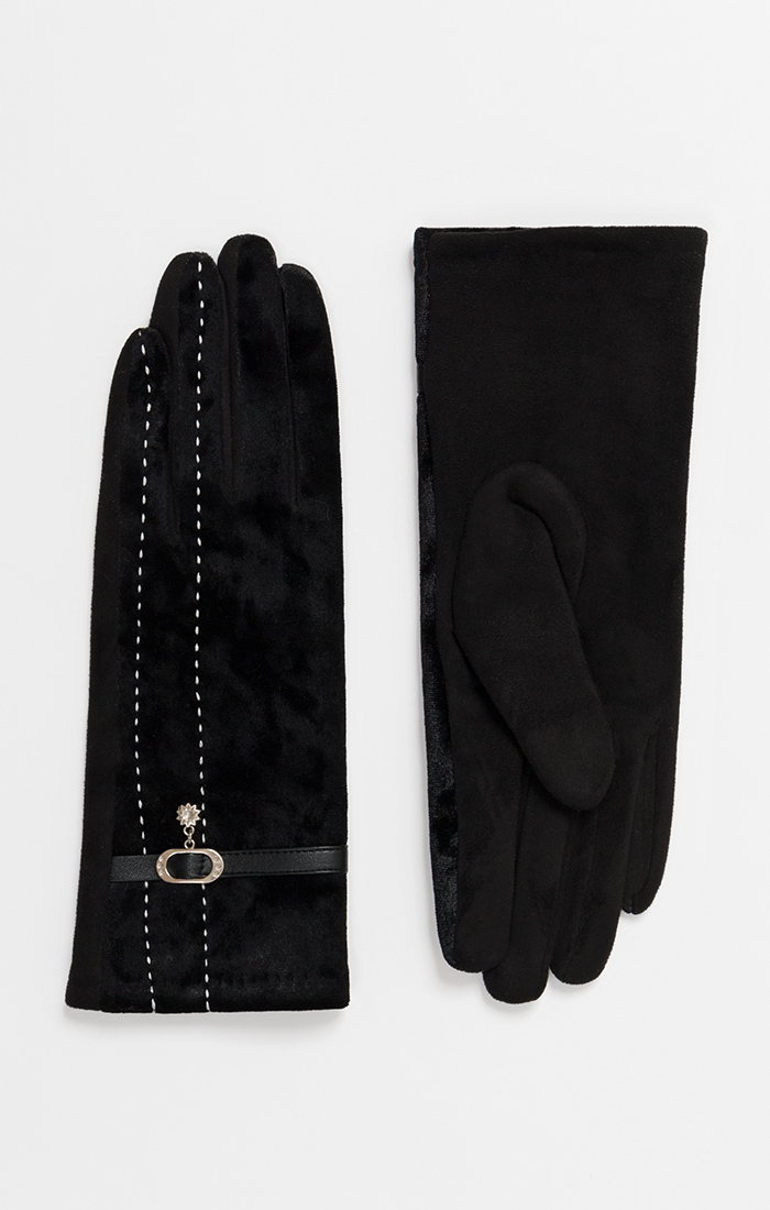 Ladies Lined Faux Suede Gloves