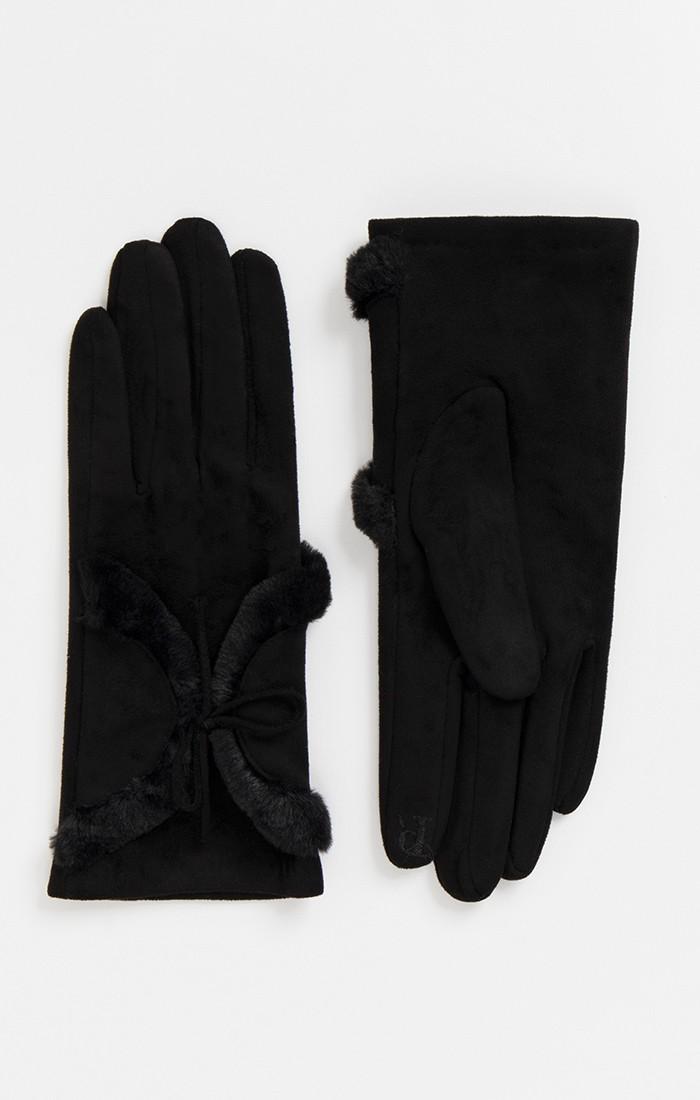 Faux suede glove