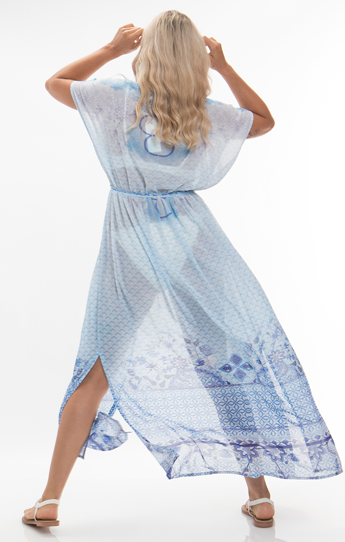 Amalfi Maxi Kaftan - Blue