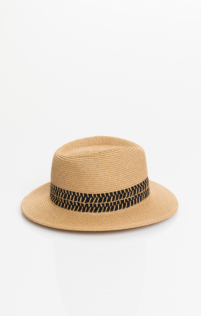 Pilar Hat - Natural/Black
