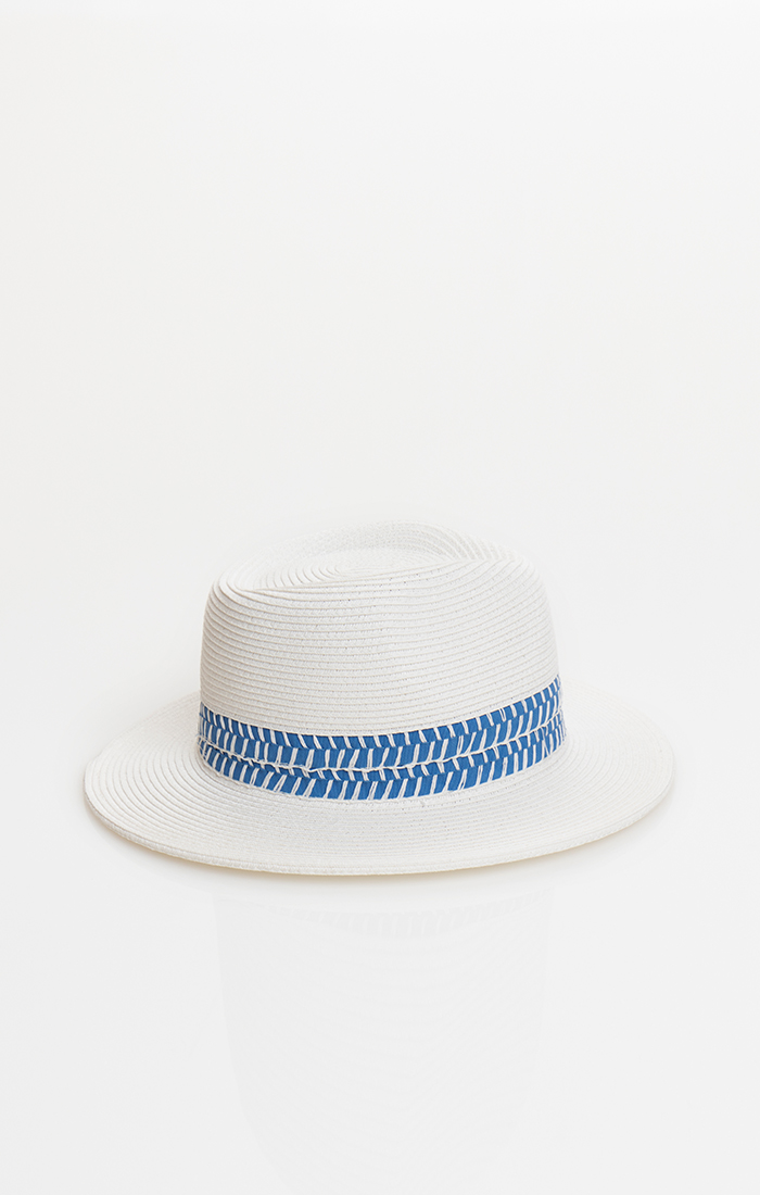 Pilar Hat - White/Blue
