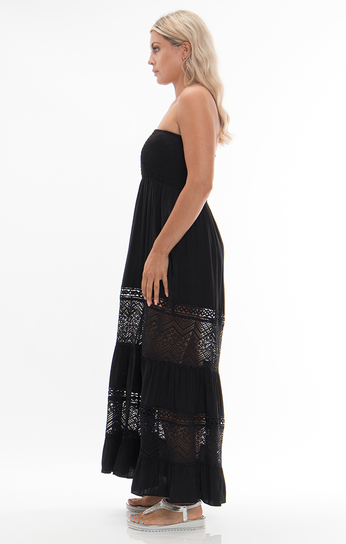 Vienna Maxi Dress - Black