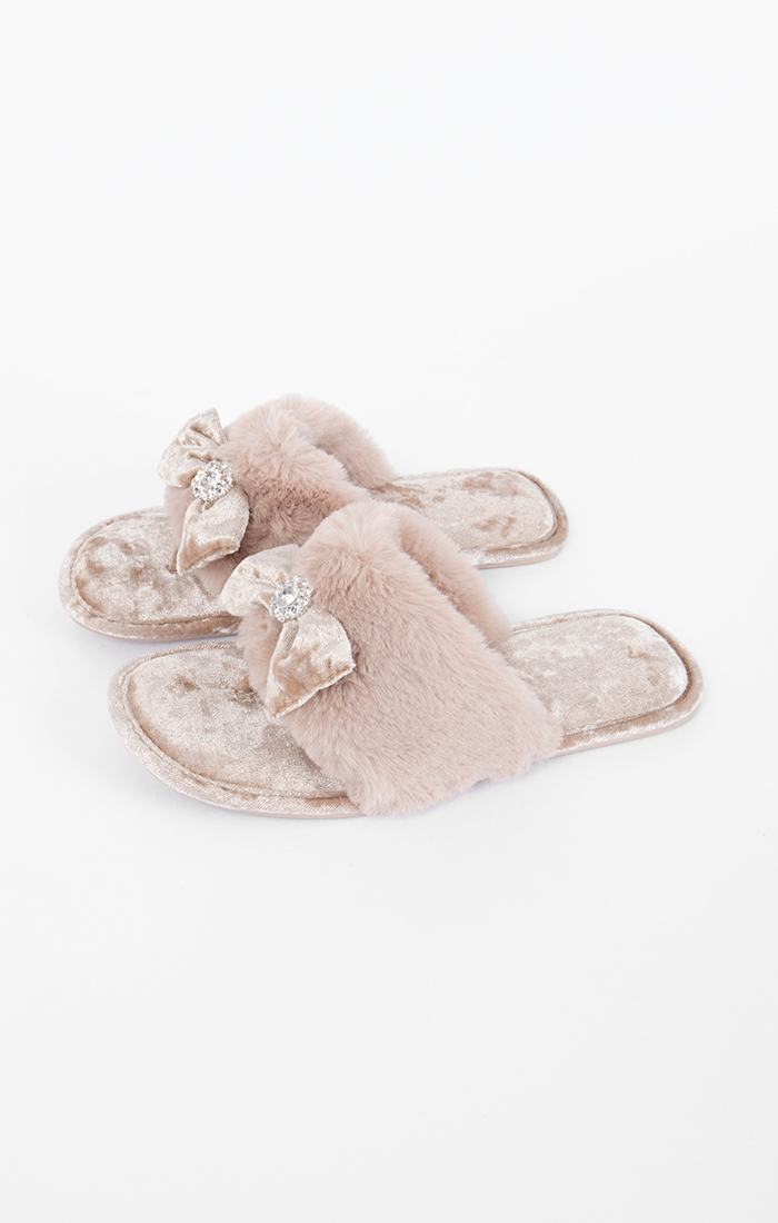 Chloe Slippers - Taupe