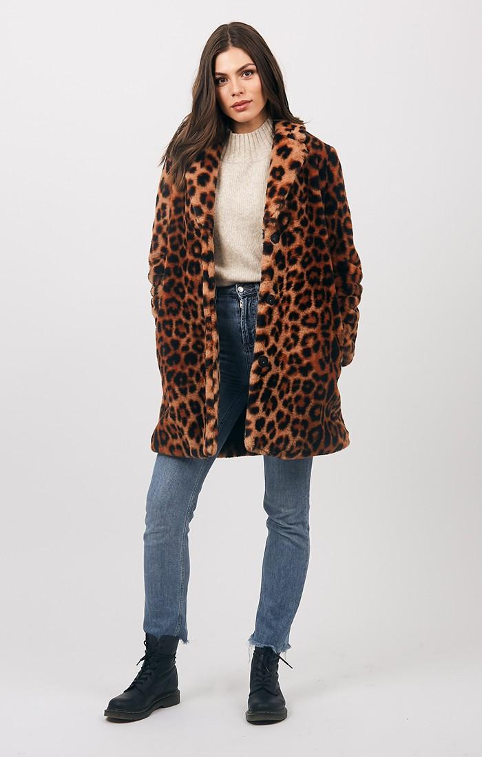 Gizelle Coat - Leopard