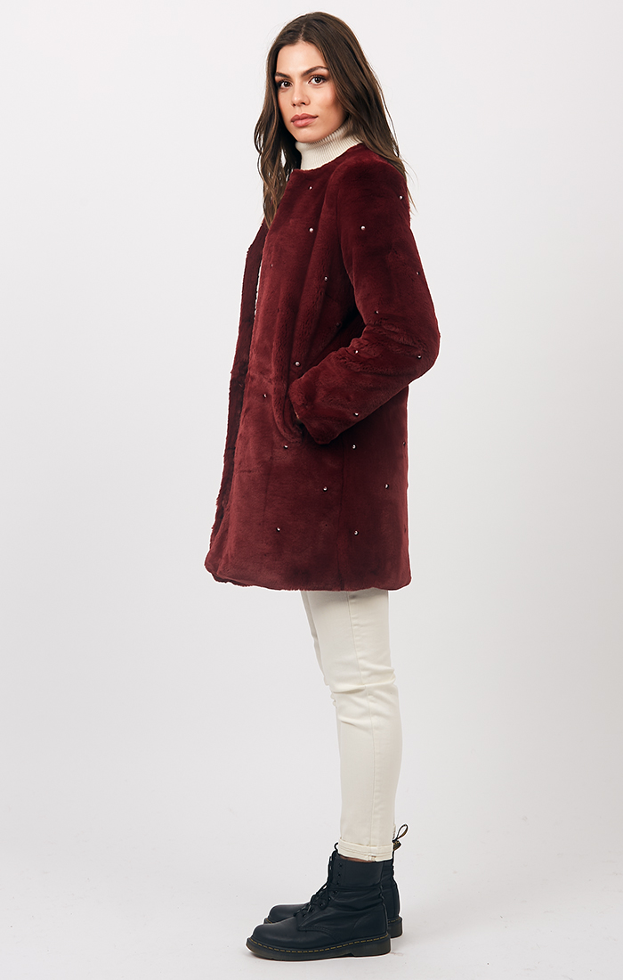 Jasmin Coat - Berry
