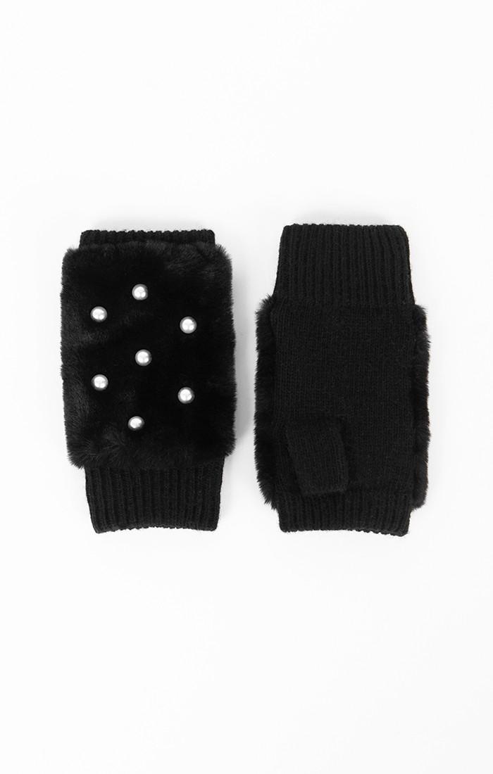 Jasmin Fingerless Glove - Black