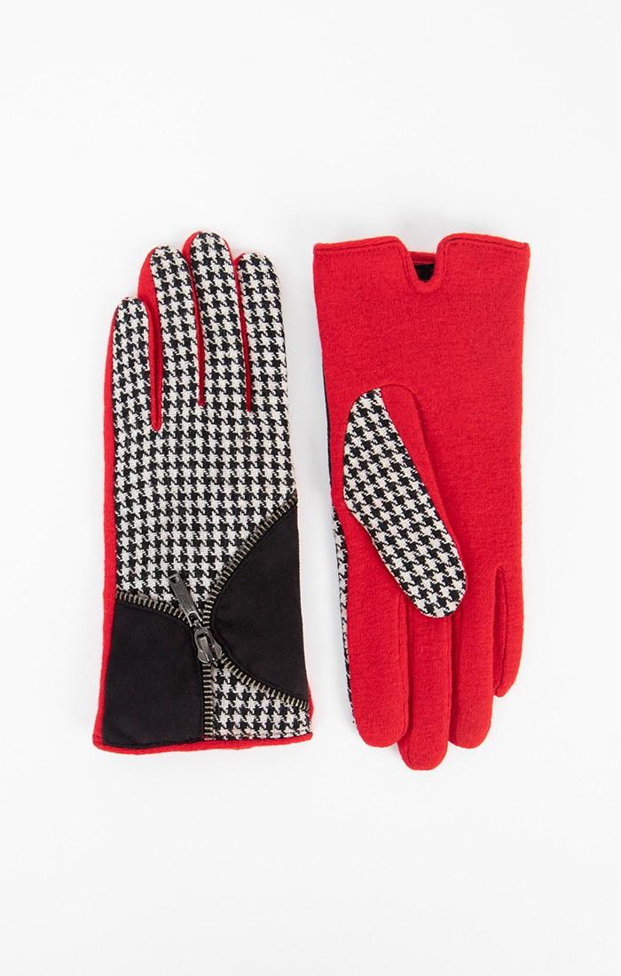 Koraline Glove - Black/White/Red