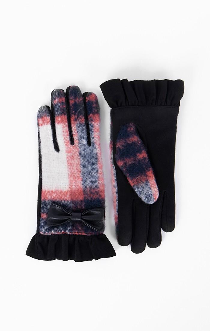 Melanie Glove - Navy/Orange