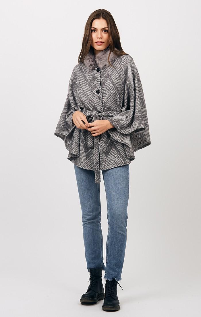 Sienna Wrap - Silver Grey