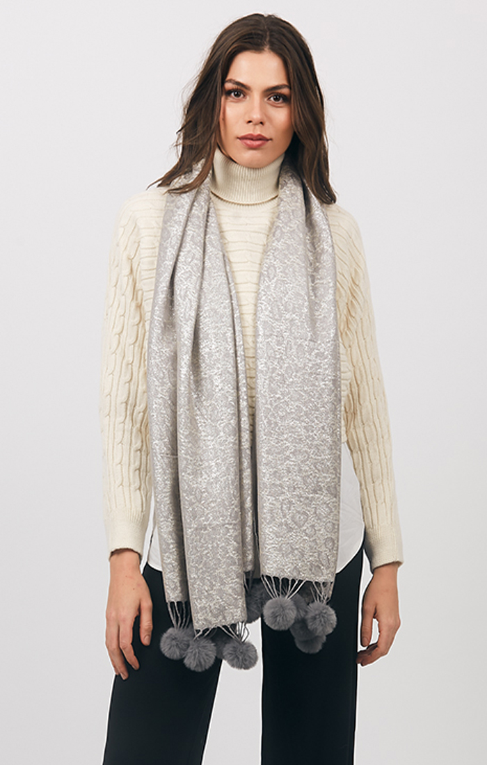 Sutton Scarf - Silver Grey
