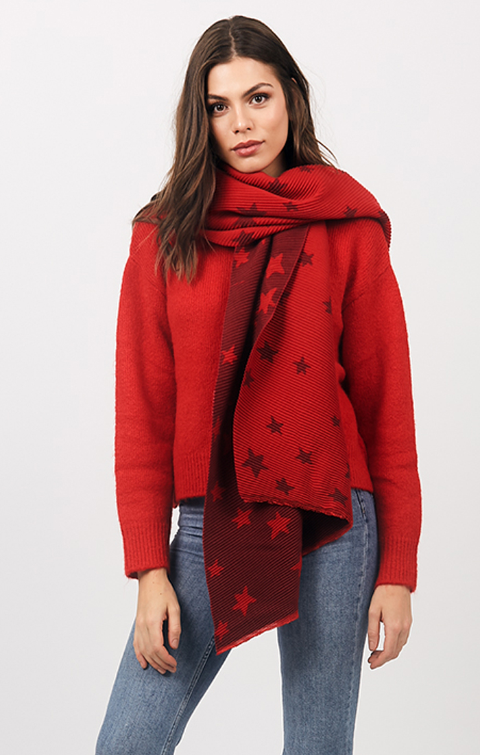 Zia Scarf - Red