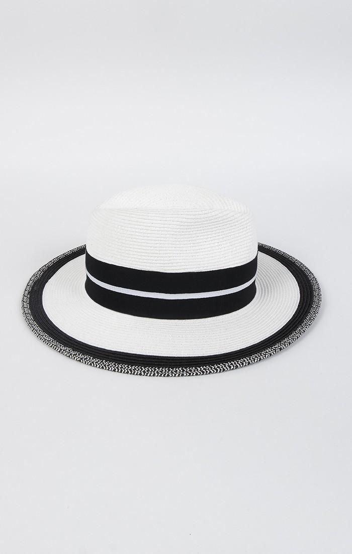 Antonia Hat - White/Black
