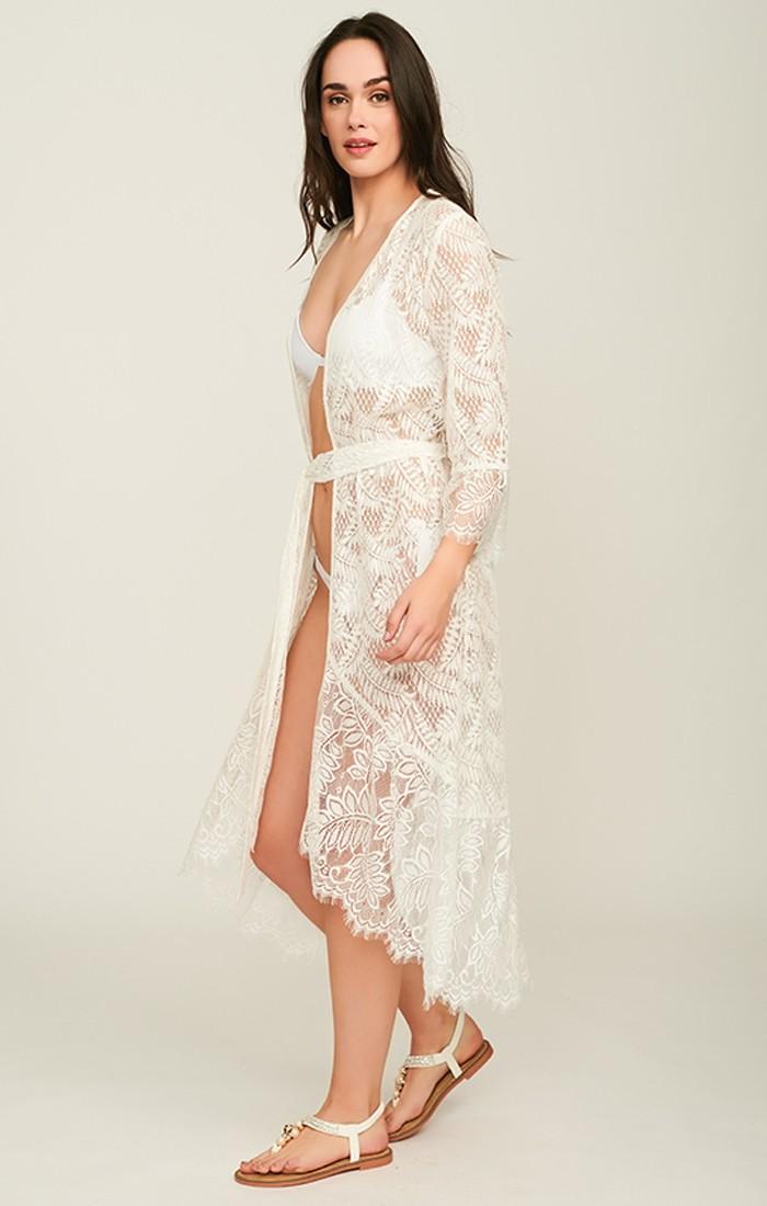 Tiberia Kimono - White