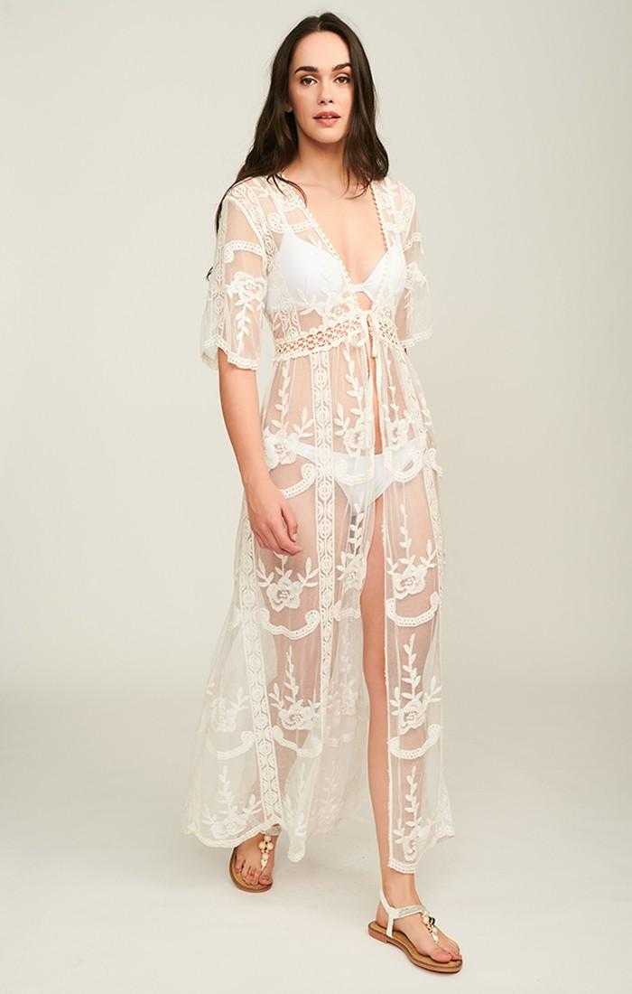 Positano Kimono - White