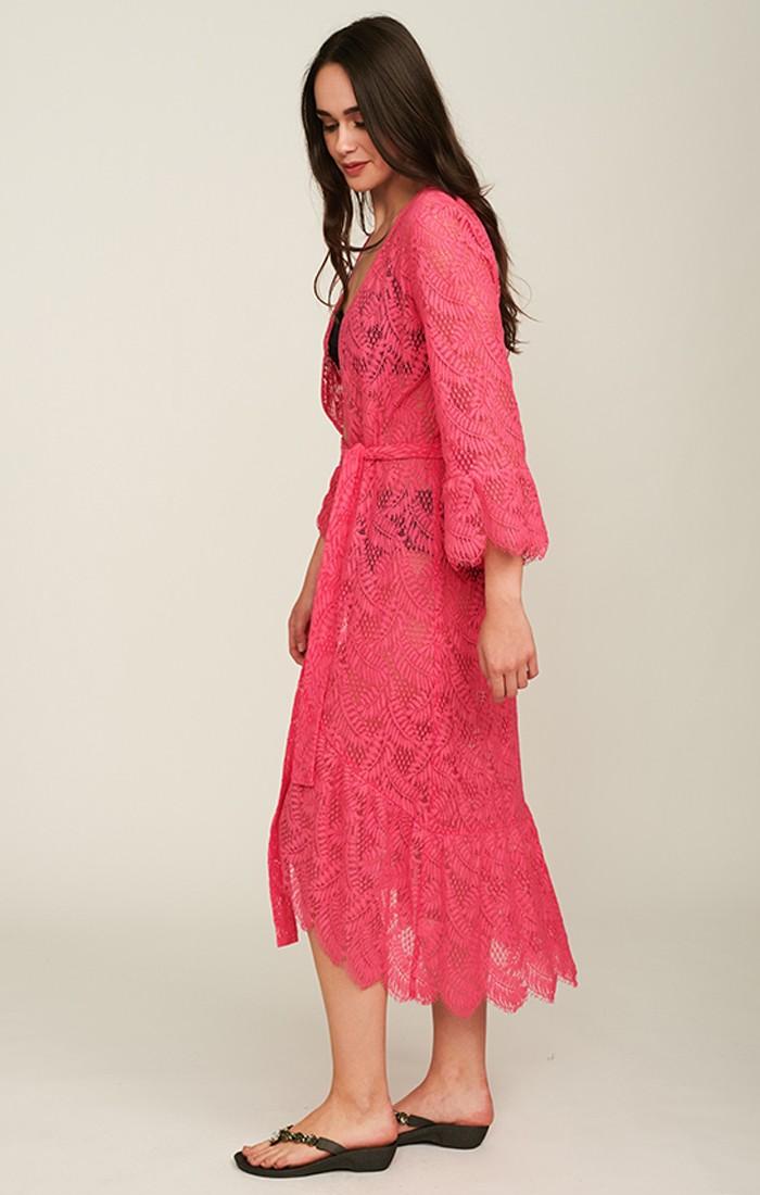 Tiberia Kimono - Fuchsia