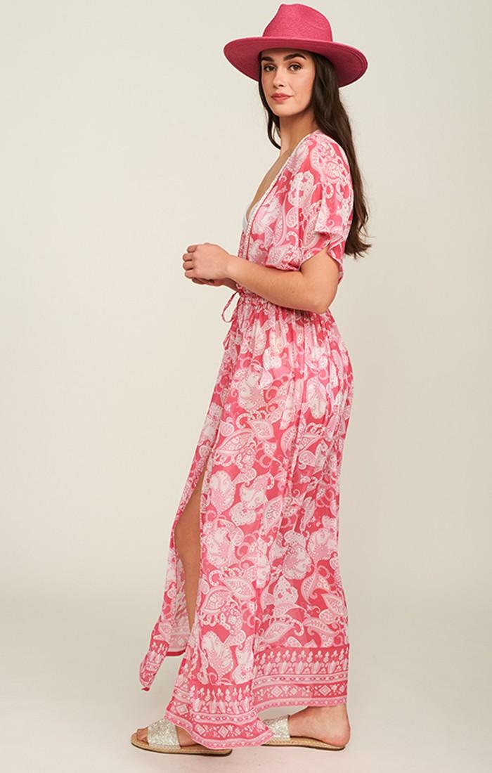 Lydia Kimono - Fuchsia