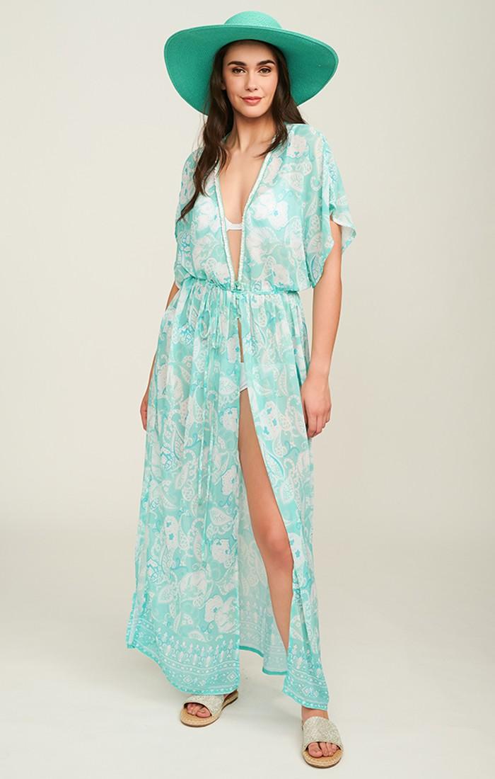 Tiberia Kimono - Turquoise
